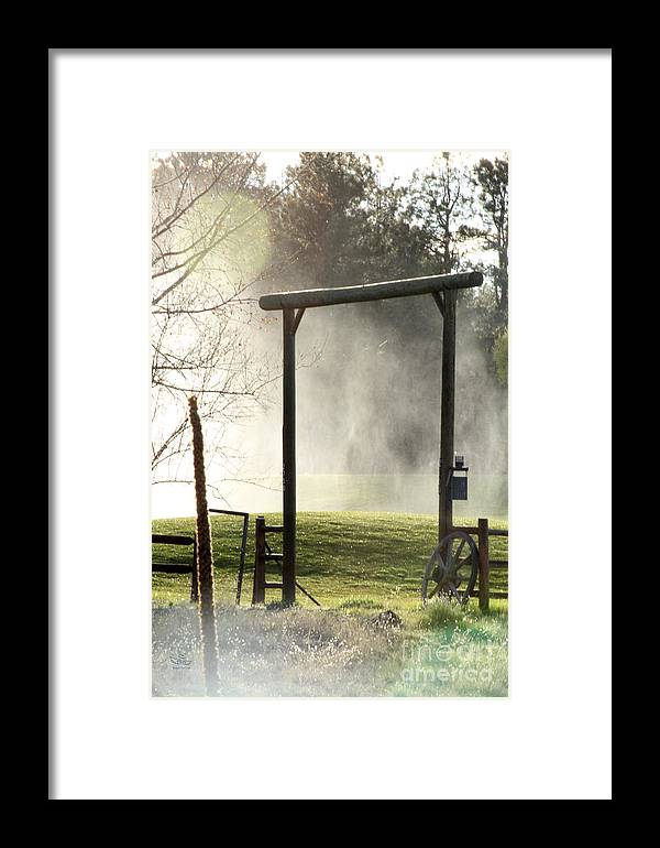 Cowboy Framed Print featuring the photograph Cowboy Fence by Beauty For God