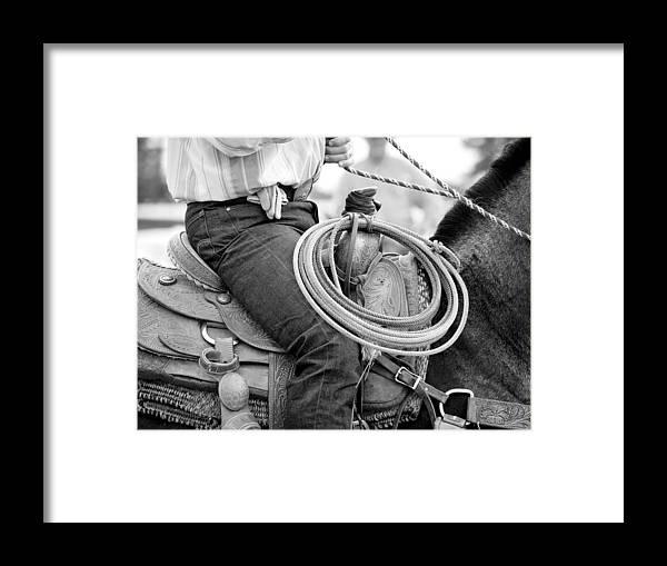 Cowboy Framed Print featuring the photograph Cowboy by Lauren Munger