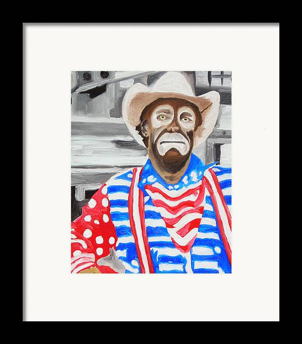 Rodeo Framed Print featuring the painting Cowboy Savior by Michael Lee