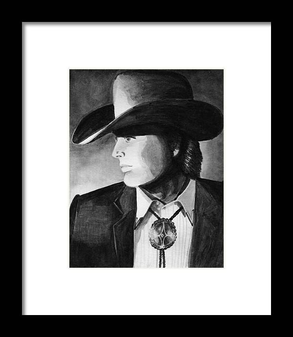 Cowboy Framed Print featuring the painting Cowboy by Sharon Crawford
