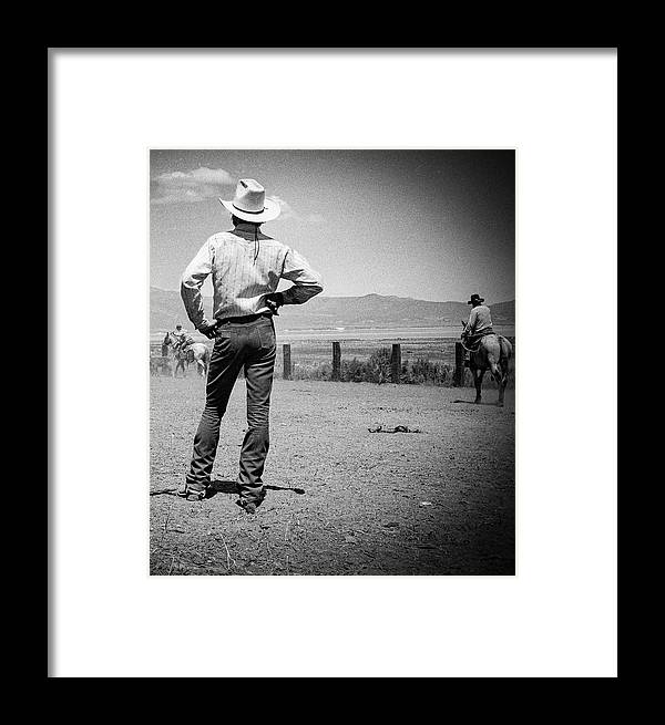 Cowboy Culture Framed Print featuring the photograph Cowboy Stance by Susan Crowell