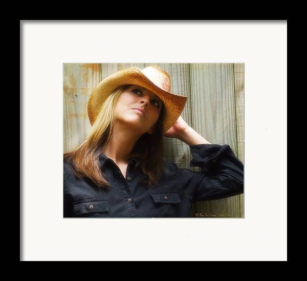 Cowgirl Framed Print featuring the photograph Cowgirl by Linda Ebarb