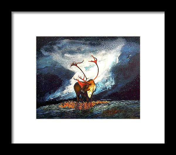 Alaska Framed Print featuring the painting Coy Diffusion by Dianne Roberson