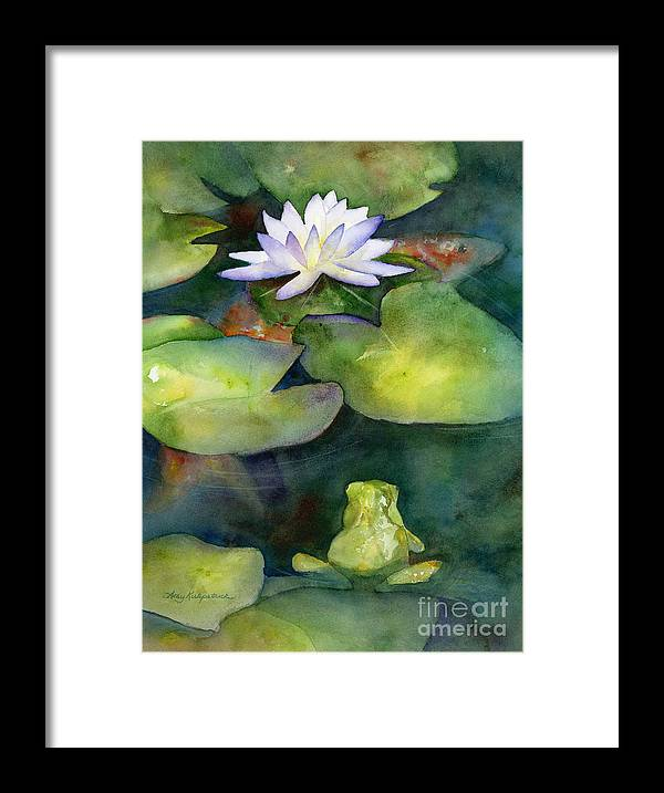 Koi Framed Print featuring the painting Coy Koi by Amy Kirkpatrick