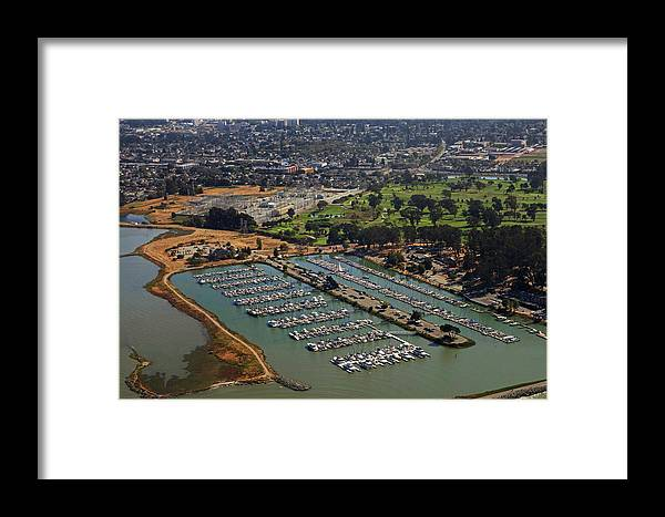 Coyote Framed Print featuring the photograph Coyote Point Marina San Francisco Bay Sfo California by Toby McGuire