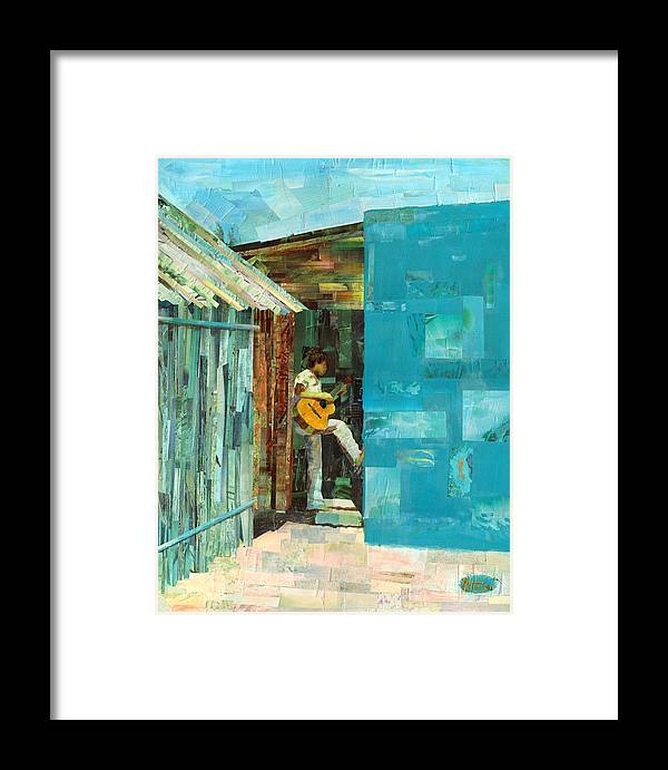 Cozumel Mexico Framed Print featuring the painting Cozumel Mexico by Gary Peterson