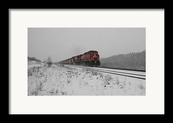 Transportation Framed Print featuring the photograph Cp Rail 2 by Stuart Turnbull