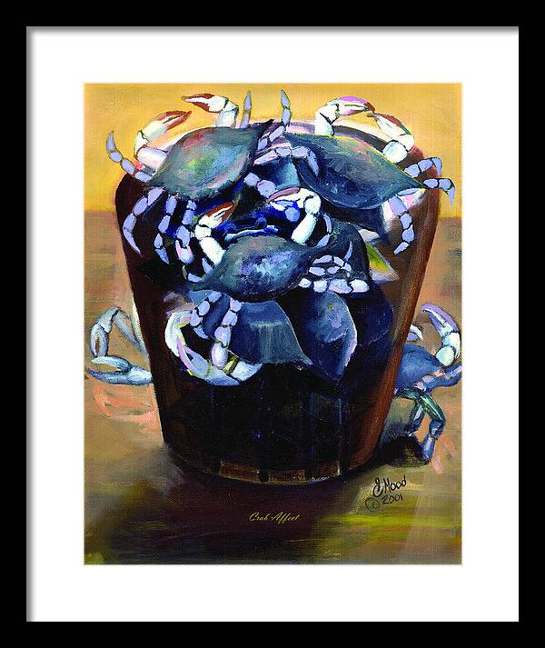 Seascape Framed Print featuring the painting Crab Affect by Lee Hood