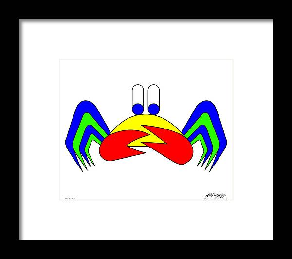 Framed Print featuring the digital art Crab-mac-claw by Asbjorn Lonvig