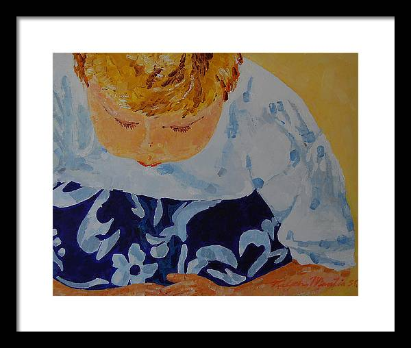 Beach Art Framed Print featuring the painting Crab Watch by Art Mantia