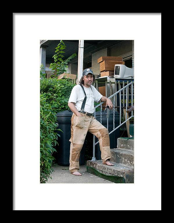 Crack Head Framed Print featuring the photograph Crack Is His Life by John Toxey