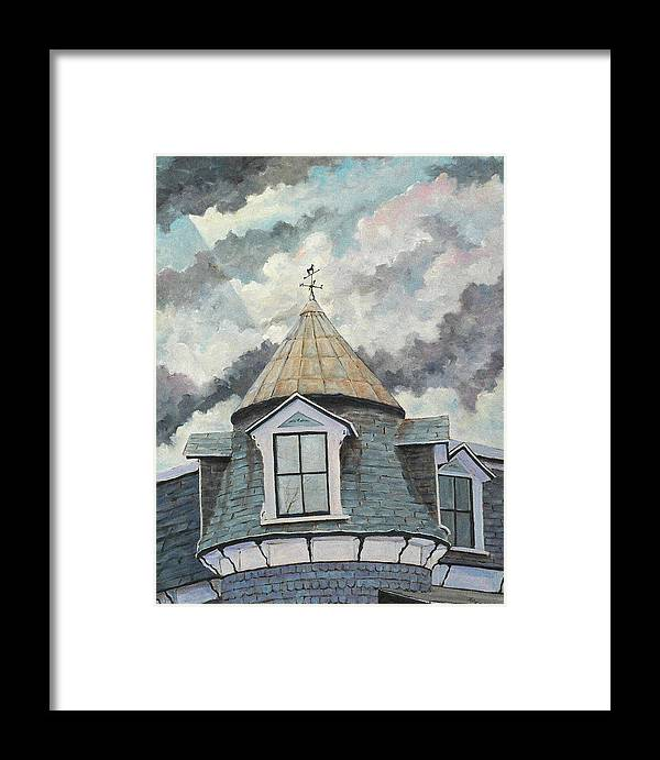 Art Framed Print featuring the painting Crack The Sky_reserve by Richard T Pranke