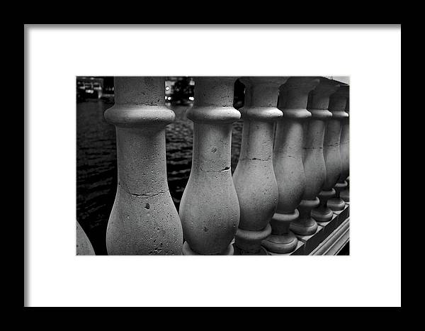 Black Framed Print featuring the photograph Crackling Columns by Michele Stoehr