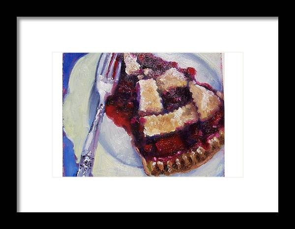 Painting Framed Print featuring the painting Cranberry Raisen Pie     by Susan Jenkins