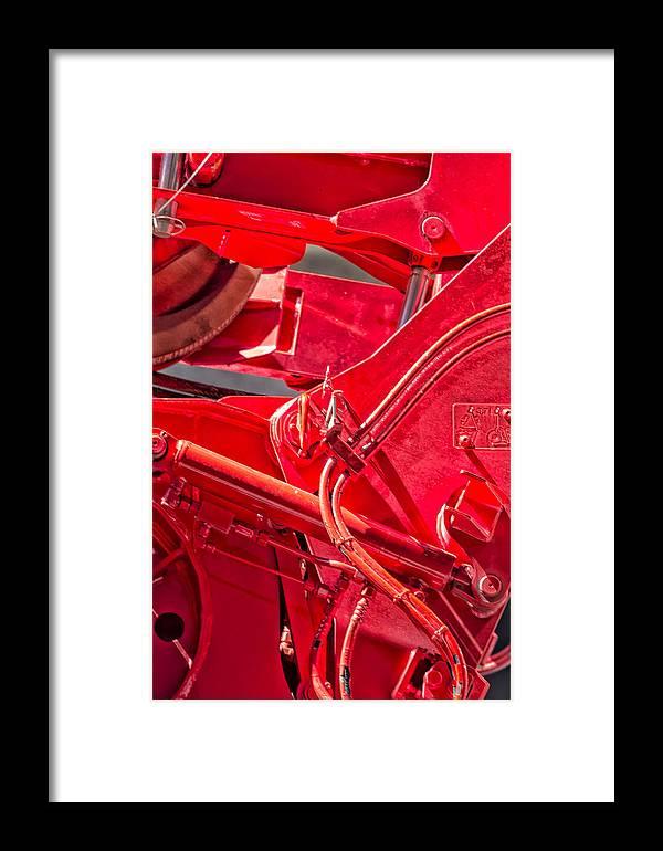 Crane Detail Framed Print featuring the photograph Crane Detail by Robert Ullmann