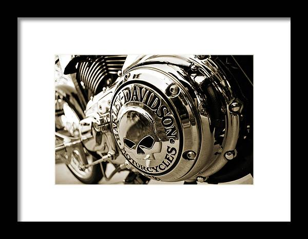 Motorcycle Framed Print featuring the photograph Cranky Chrome by Mark Weaver