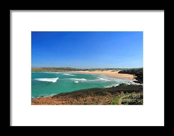 Crantock Framed Print featuring the photograph Crantock Bay by Carl Whitfield