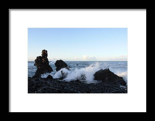 Waves Framed Print featuring the photograph Crashing Wave by Phil Crean
