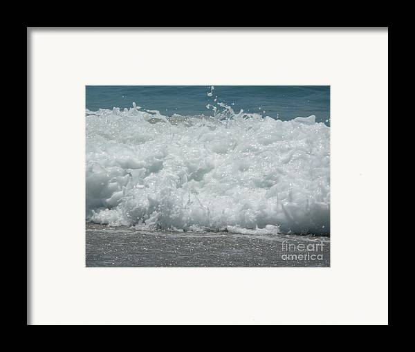 Framed Print featuring the photograph Crashing Waves by Barb Montanye Meseroll