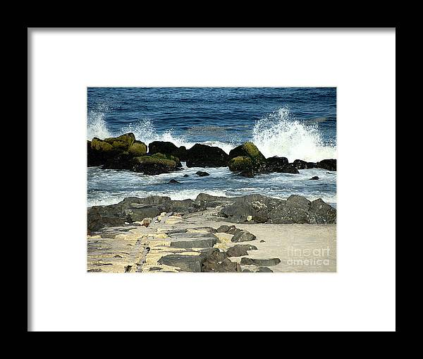 Waves Framed Print featuring the photograph Crashing Waves by Colleen Kammerer