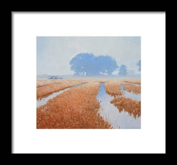 Farming Framed Print featuring the painting Crawfish In The Mist by Kevin Lawrence Leveque