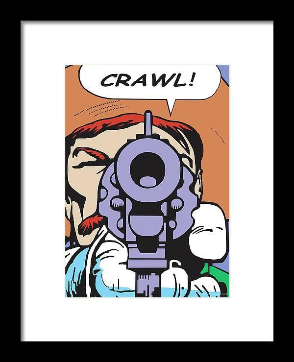 Western Art Framed Print featuring the digital art Crawl by Shawn Vernon