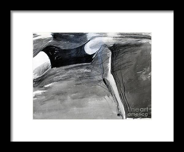 Water Framed Print featuring the painting Crawl Two by Lisa Baack