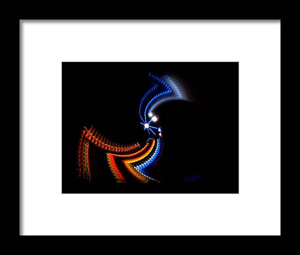 Chaos Framed Print featuring the photograph Crazy Dancer by Charles Stuart