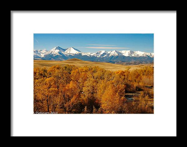 Crazt Mountains Framed Print featuring the photograph Crazy Mountain Creek by Ann Dickinson