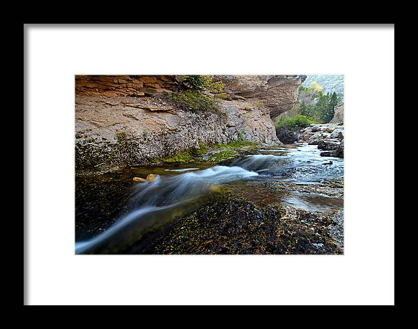 Crazy Woman Creek Framed Print featuring the photograph Crazy Woman Creek by Larry Ricker