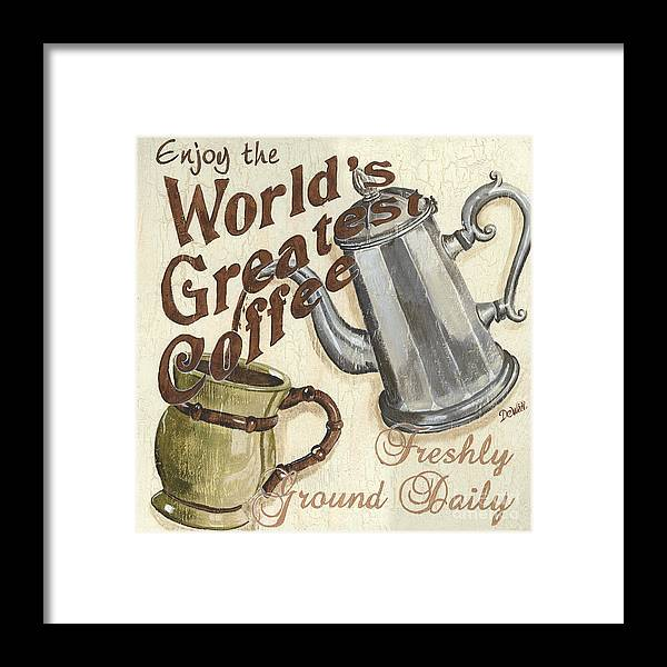 Coffee Framed Print featuring the painting Cream Coffee 1 by Debbie DeWitt