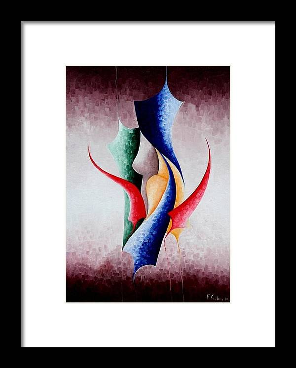 Painting Framed Print featuring the painting Creation by Fatma Gulnar