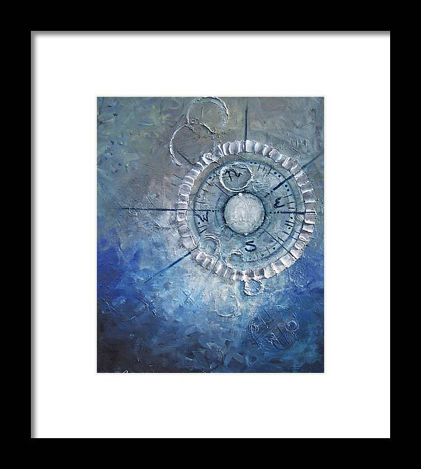 Contemporary Framed Print featuring the painting Creation by Laura Sherrill