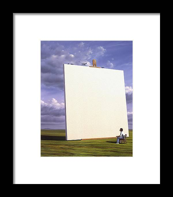 Art Framed Print featuring the painting Creative Problems by Jerry LoFaro