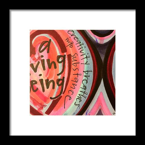 Creativity Framed Print featuring the painting Creativity Breathes by Vonda Drees