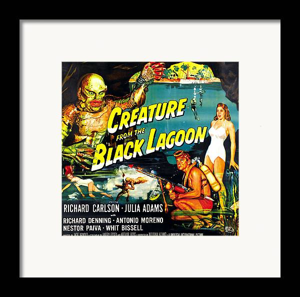 1950s Movies Framed Print featuring the photograph Creature From The Black Lagoon by Everett