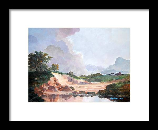 Werner Pipkorn Framed Print featuring the painting Credit River Farm by Werner Pipkorn