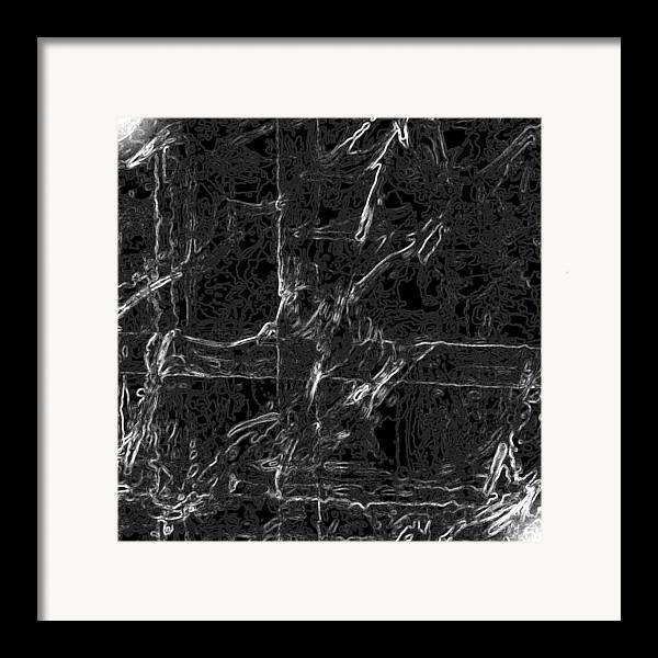 Abstract Framed Print featuring the digital art Creepy by Carl Perry