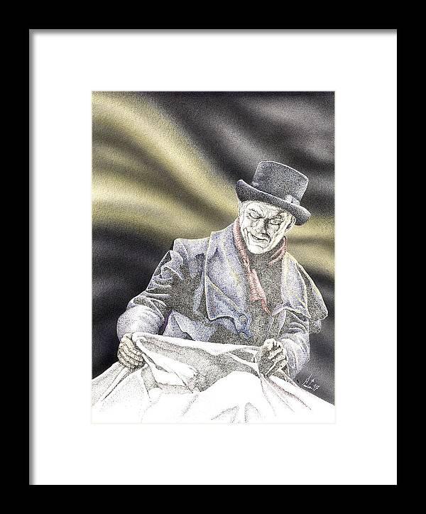 Boris Framed Print featuring the mixed media Creepy Thoughts by Preston Shupp