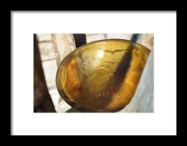 Cast Glass Framed Print featuring the sculpture Cremonial Bowl by Thor Sigstedt