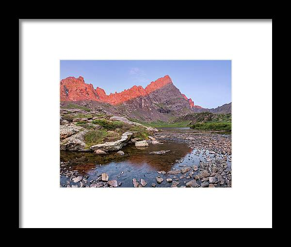 Crestone Needle Framed Print featuring the photograph Sunrise On The Needle by Aaron Spong