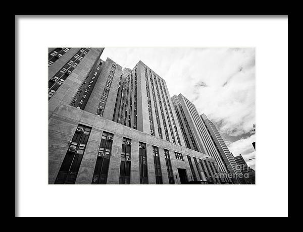 Criminal Framed Print featuring the photograph criminal courts building and tombs south building manhattan detention complex New York City USA by Joe Fox