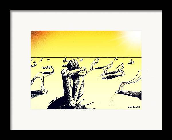 Crisis Of Leader Framed Print featuring the digital art Crisis Of Leader by Paulo Zerbato