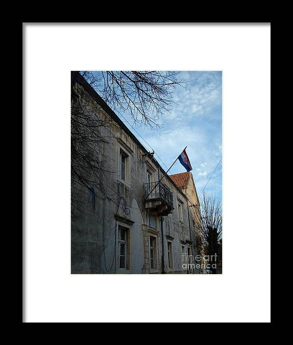 Croatia Framed Print featuring the photograph Croatian flag waving proudly by De La Rosa Concert Photography