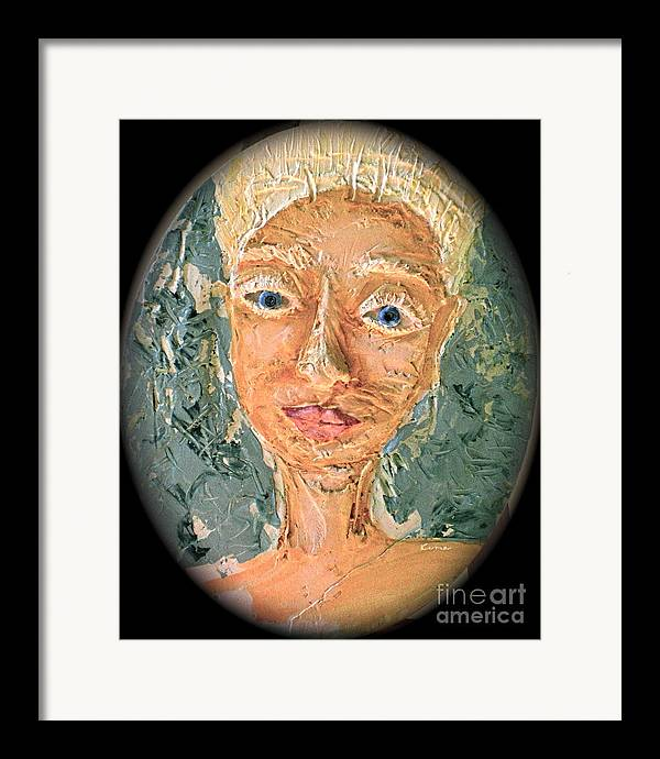 Portraits Framed Print featuring the painting Crone Of Crowns by Kime Einhorn