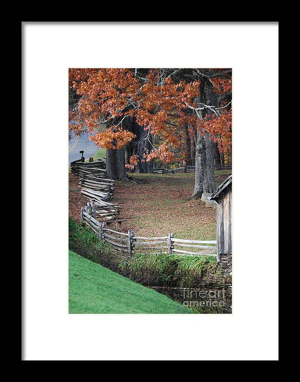 Archecture Framed Print featuring the photograph Crooked Fence by Eric Liller