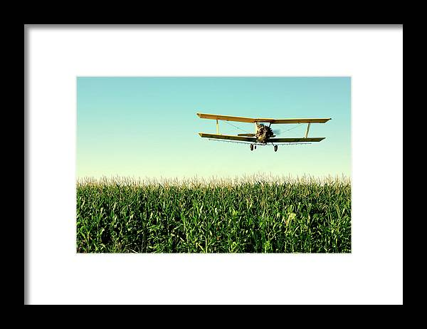 Crop Duster Framed Print featuring the photograph Crops Dusted by Todd Klassy