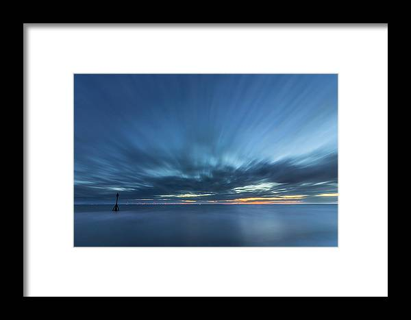 Long Exposure Framed Print featuring the photograph Crosby Beach High Tide by Paul Madden