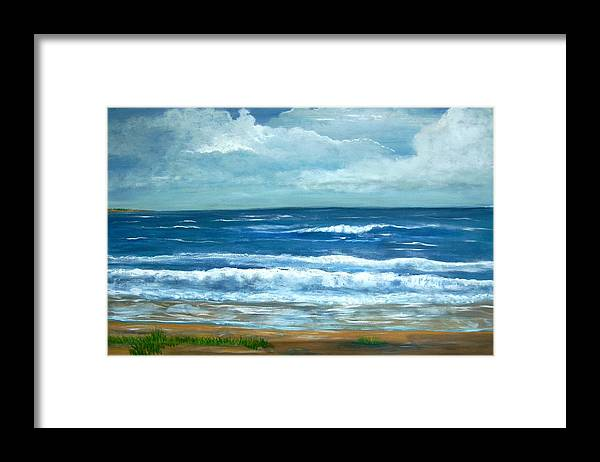 Beaches Framed Print featuring the painting Cross Beach by Richard Hubal