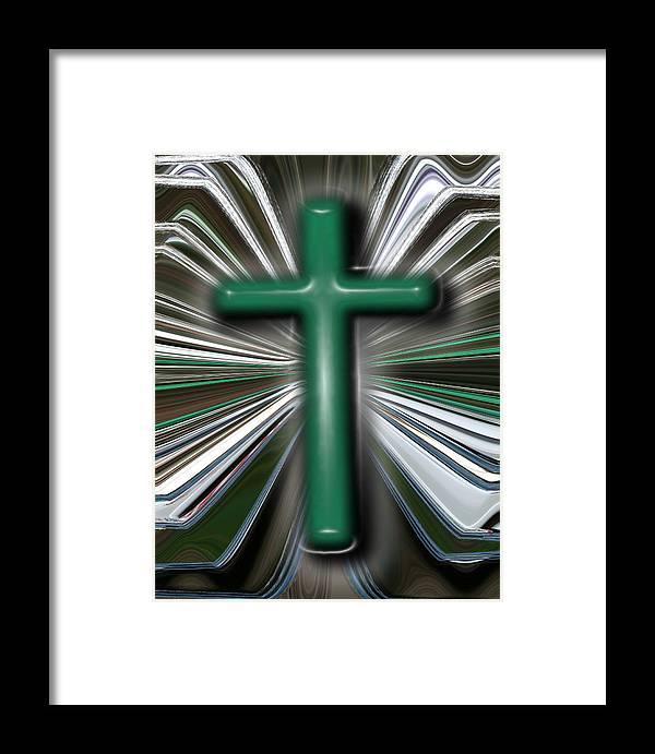 Abstract Framed Print featuring the digital art Cross Blast by Joshua Sunday